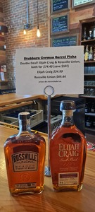 Elijah Craig AND Rossville Union-Our Barrel Picks (Save $10 when you buy both!)